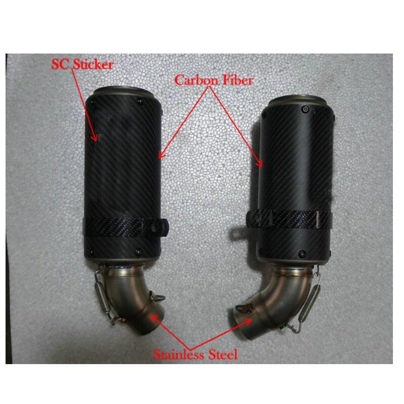 MOKALI Customized carbon escapes para moto for duc*ti 795 796 silenciador moto pit bike exhaust SC capacetes de motociclista