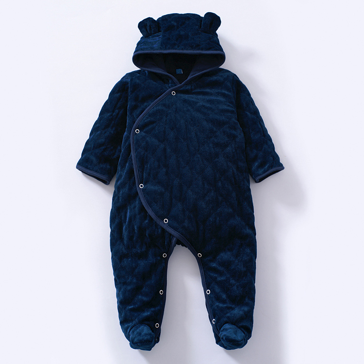 New 2015 autumn winter rompers baby clothing children wadded jacket newborn baby boys / girls cotton rompers kids warm jumpsuits 2016 new winter spring autumn girls kids boys bunnies patch cotton sweater comfortable cute baby clothes children clothing