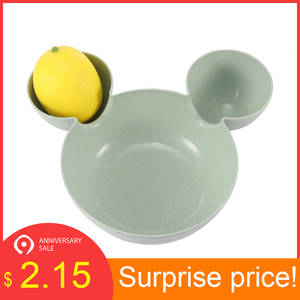 Dishes Children Rice Bowl Plastic Snack Plate Tableware