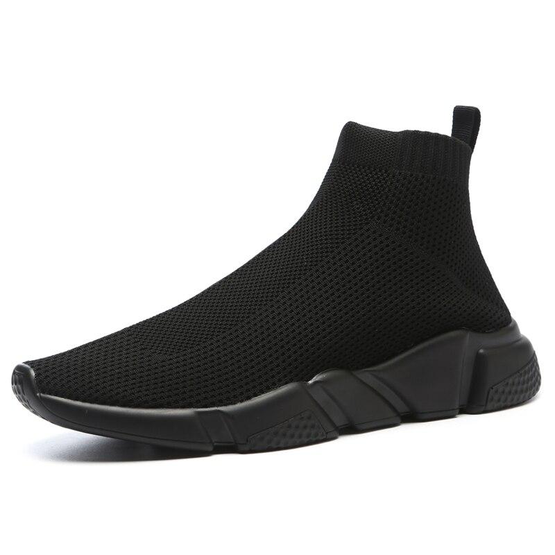 Maggie's Walker nouveauté hommes maille chaussures décontractées mode plate-forme élastique chaussures en toile tricoté respirant chaussures taille 40 ~ 44 - 5