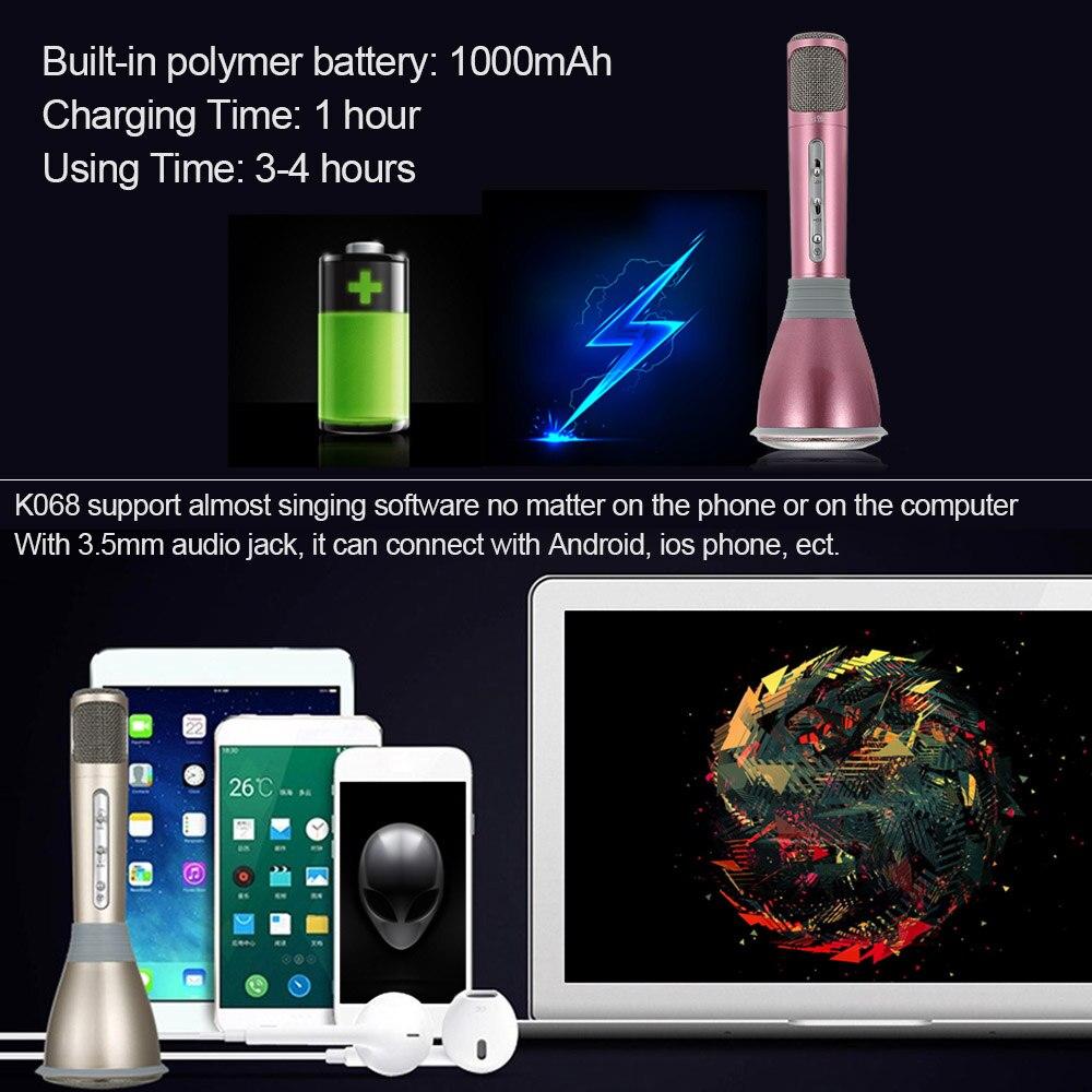 [Original] Tuxun K068 Wireless Bluetooth Karaoke Player Microphone Speaker  KTV