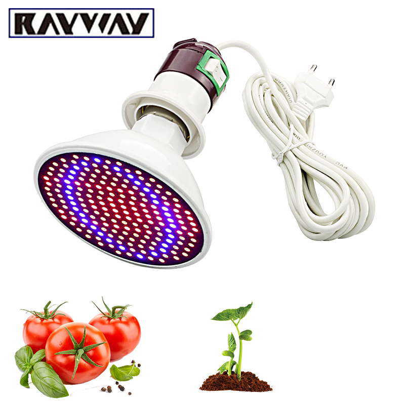 Phytolamp Full Spectrum 200 LED Grow Lights E27 LED Grow Lamp  Indoor Plant Flowers  Seedlings Greenhouse Plant Fitolamp