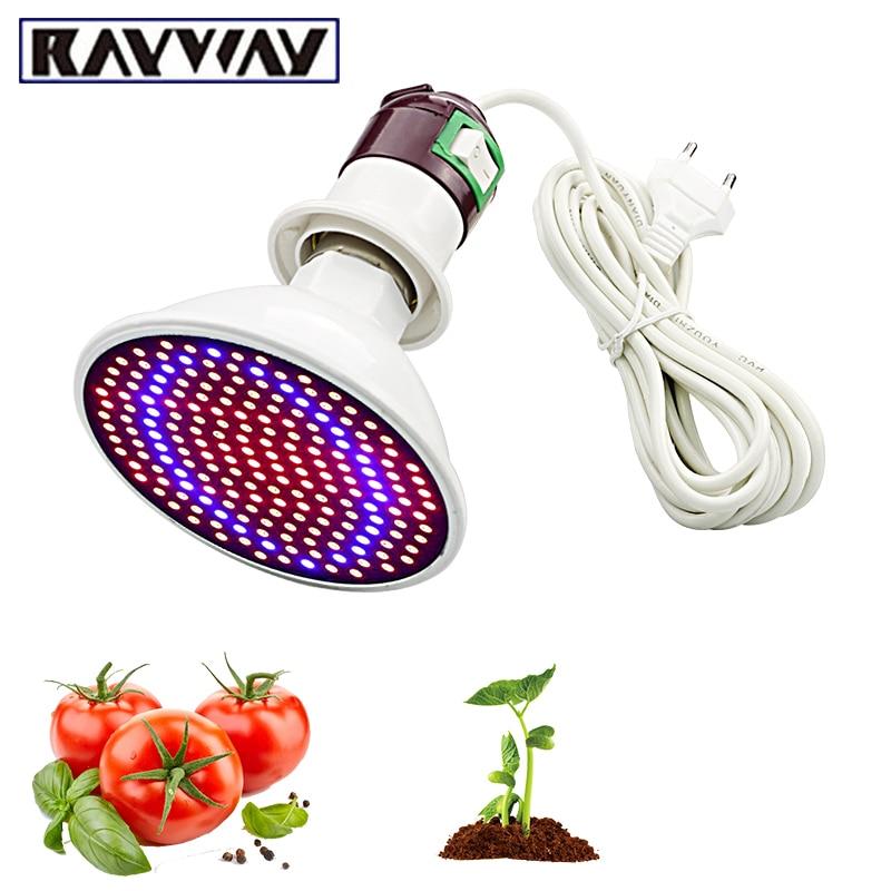 Phytolamp Full Spectrum 200 LED Grow Lights E27 LED Grow Lamp  Indoor Plant Flowers  Seedlings Greenhouse Plant Fitolamp