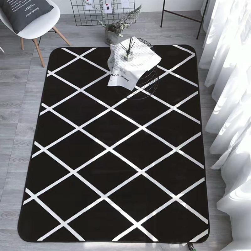 Simplicity Black White Geometric Cross Lines Living Room