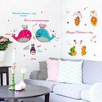 Dolphin Fish Bathroom Glass Children S Room Decoration Kindergarten Decorative Wall Stickers Pvc Wall Stickers Wholesale