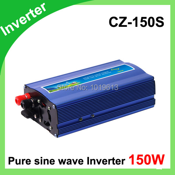 Inverter DC12V/24V Pure Sine Wave Inverter for Wind Turbine/Solar System, 150W free shipping 600w wind grid tie inverter with lcd data for 12v 24v ac wind turbine 90 260vac no need controller and battery