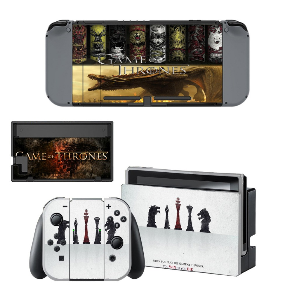 VINYL SKIN STICKER Game of Throne DECAL COVER for Nintend Switch Console and Joy-Con Controlle