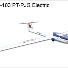 FlyFly хобби Grob-G-103 Электрический планер PT-PJG с тормозом 3000 мм АРФ без электрической части
