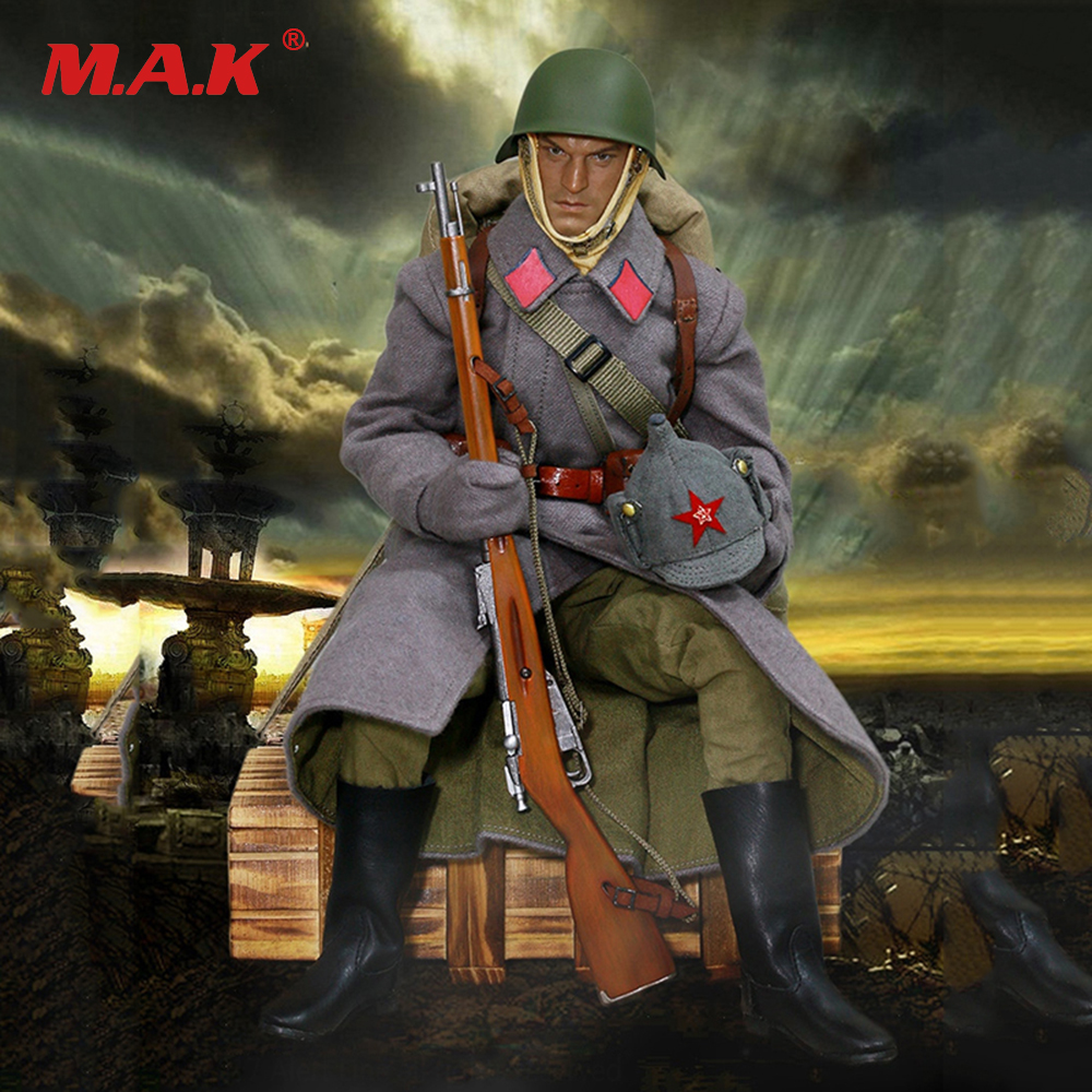 1/6 Soldier Clothes Set WWII Soviet Red Army Infantry Equipment Set For 12 Inches Action Figures