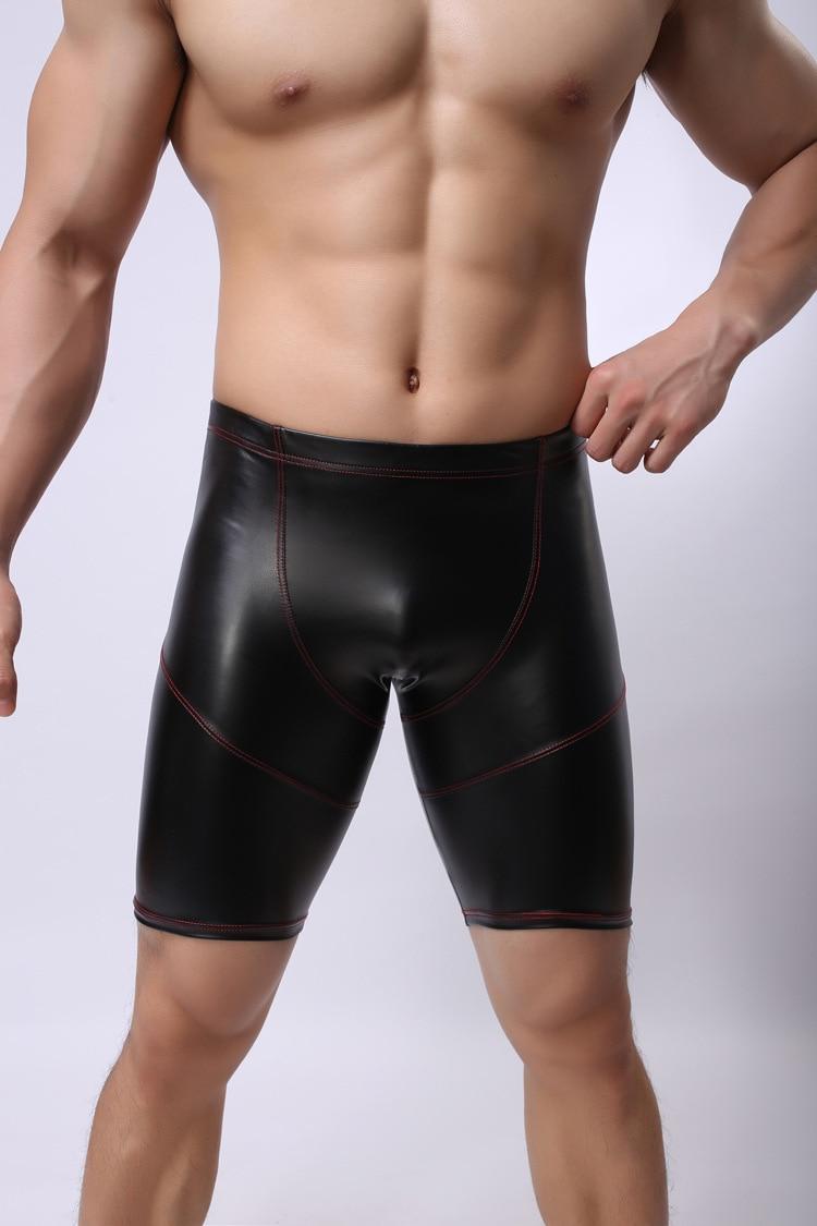 Plus Size Sexy Lingerie Man Exotic Pants Underwear Latex PU Men Sexy Leather Sport Wear Sexy Club Wear Catsuit Mens Bodysuits