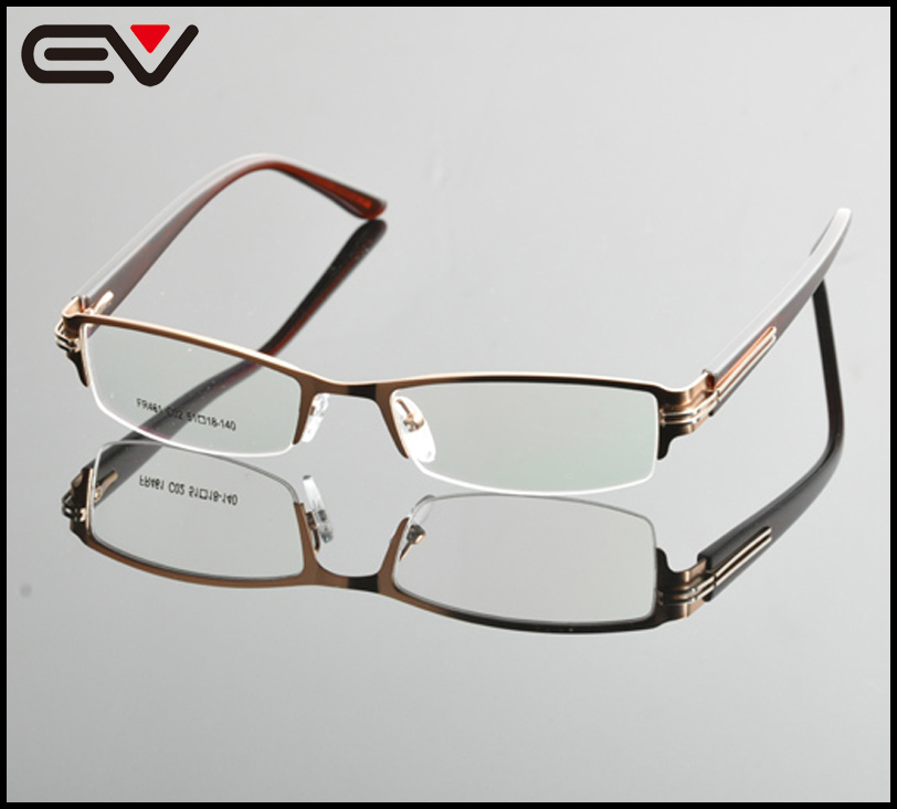e154570563d 2015 New Unisex Semi Frame eyeglasses Men Brand Eyeglasses Frames Women  Glasses Frame For Myopia lens Optical Frame OculosEV0861-in Eyewear Frames  from ...