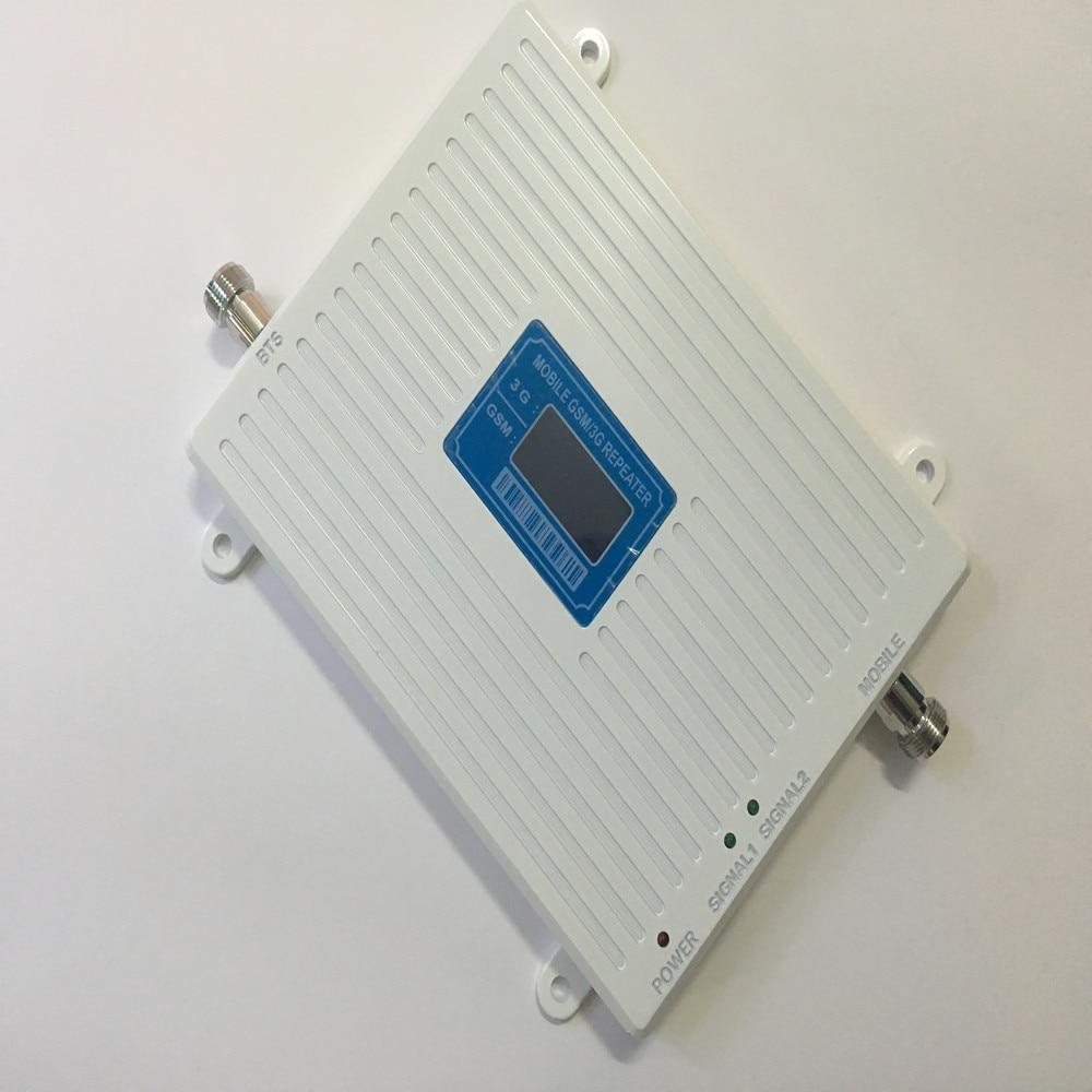 Meilleur Prix! 2018 LCD affichage GSM 3G répéteur amplificateur de Signal Mobile GSM 900 mhz 3G 2100 mhz amplificateur de répéteur de Signal de téléphone portable