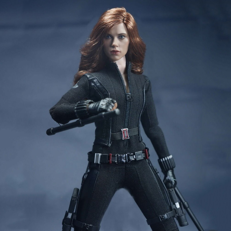 1/6 Black Widow Scarlett Johansson Woman Clothes suits Models With Head For  12