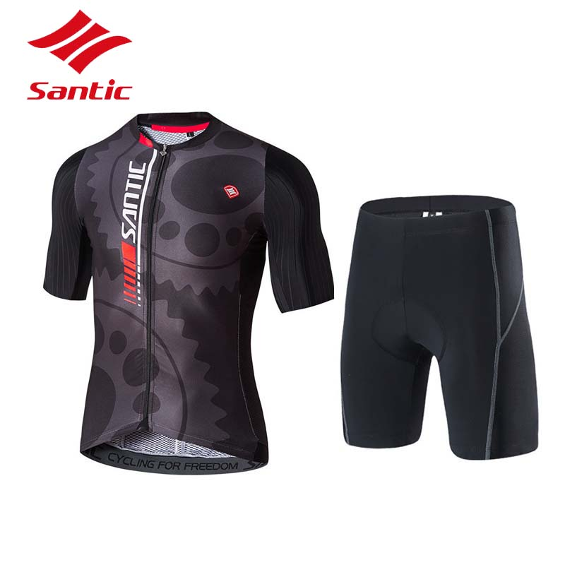 Santic Cycling Jersey Tour De France Racing Team Jersey Pro Bicycle Set Cycling Clothing MTB Road Bike Jersey Maillots Ciclismo santic cycling jersey 2017 new men pro team mtb road bike jersey light