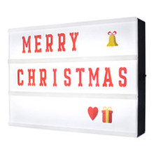 A4 Cinematic LED Porch Light Up Sign Box Lightbox Message Board Cinema LED Letter Symbol Home Party Wedding Lamp Decor(China)