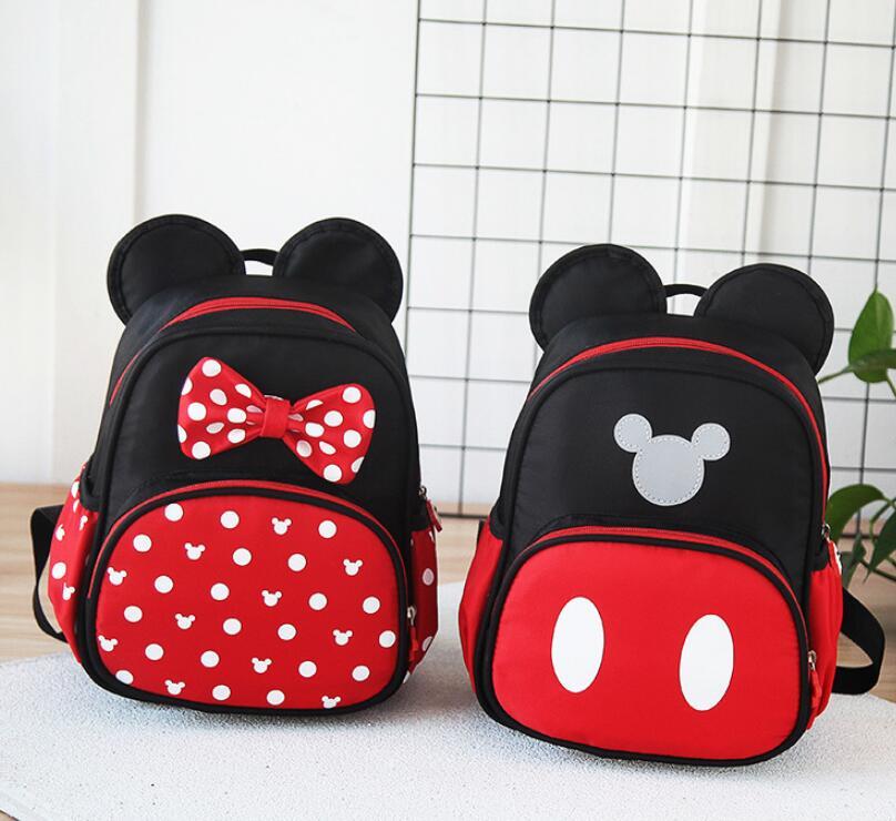 New Kids Bag Kindergarten Children Cartoon Mickey School Bags Minnie Backpack Waterproof Schoolbags Satchel 2 Colors
