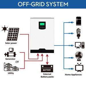 Image 2 - MPPT Solar Inverter 3000W 24V 220V 60A Off Grid Inverter 3Kva Power Pure Sine Wave Inverter Solar Charger 60A Battery Charger