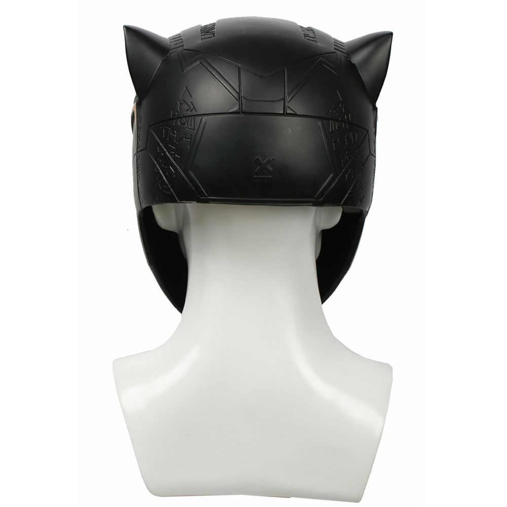2018 Горячая продажа Черная пантера черный полный шлем Смола Маска супергерой аксессуары для косплея на Хэллоуин праздничный подарок на Рождество