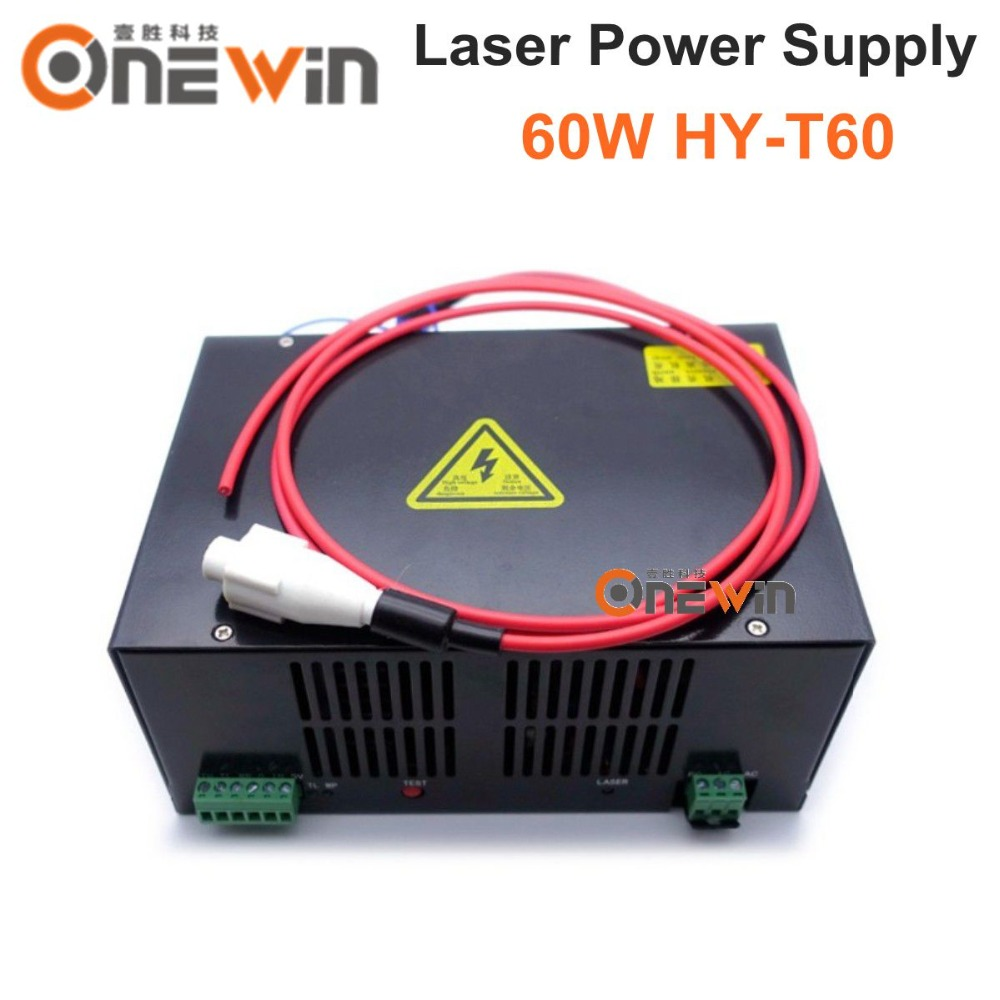 best quality laser power supply 60W for laser engraving machine