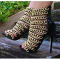 Sapatas Das Senhoras Da Forma Das Mulheres Apontou Toe de Salto Alto Sandálias de verão EU34-43 Grandes Sapatos Tamanho Das Mulheres