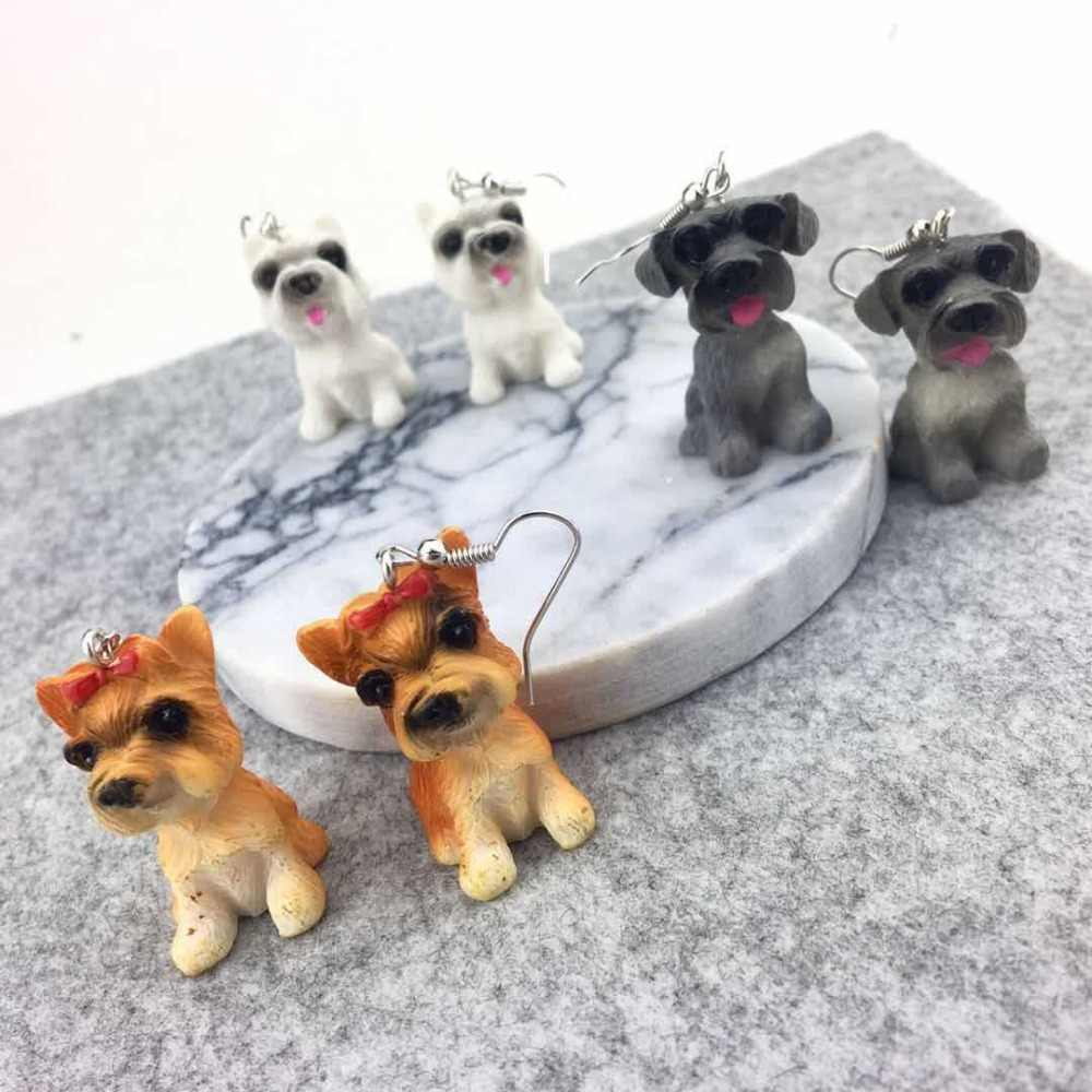 Unique Cute 3D Vivid Dog Drop Earrings Spoof Funny Lovely Dog Long Drop Earrings Fashion Animal Jewelry For Girls Women Brincos