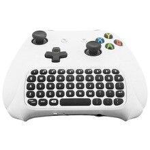 47 ключи Беспроводной 2,4 г практичная Мини Ручной Клавиатура игровой сообщение геймпад клавиатура для xbox один контроллер с черный/ белый