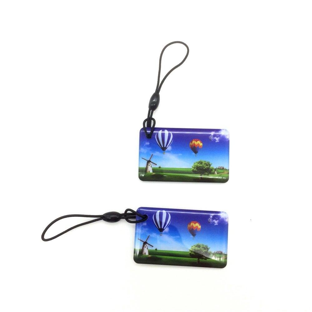 13.5MHZ UID IC S50 1K MFS50 NFC Rewrite Keyfobs RFID Tag Key Ring Card Proximity Token Badge Duplicate 5pcs