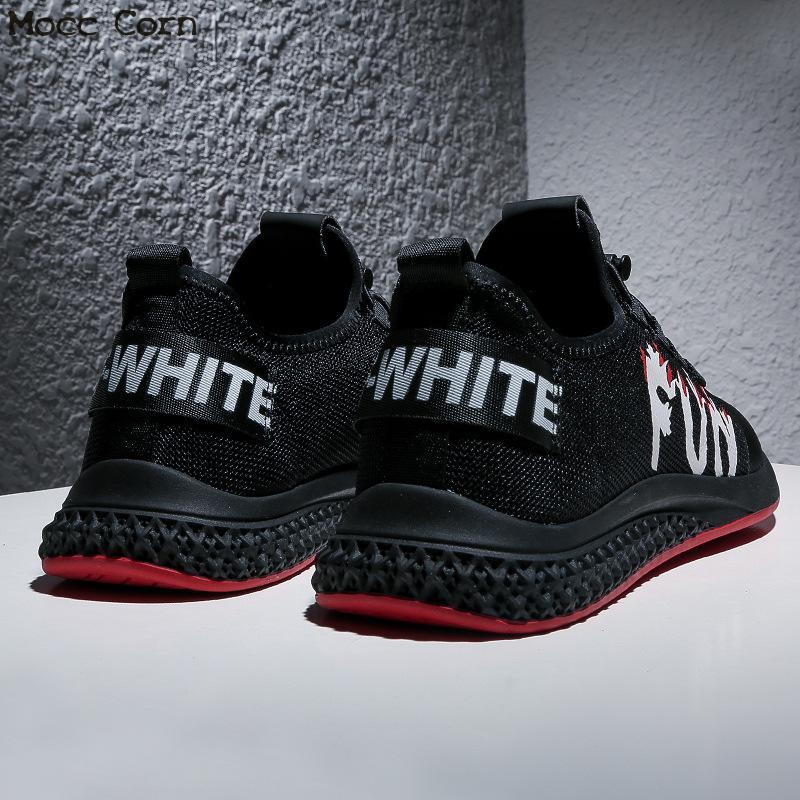 Mode Mâle À Respirante Chaussure Rouge Été Maille Casual Noir Hommes La Sneakers Automne Homme Chaussures De blanc Mans Sport Tennis xvaY6