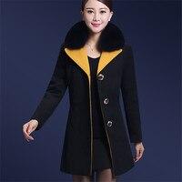 2018 новая длинная куртка с секциями модные зимние женские теплое пальто свободные Сгущает Для женщин Европа Америка Повседневное хлопковая