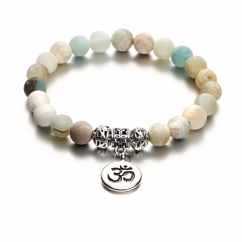 8mm Matte Frosted Amazonite...