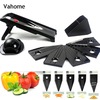 Vahome Vegetable Slicer Vegetable Cutter with Stainless Steel Blade Manual Potato Peeler Carrot Cheese Grater Dicer Kitchen Tool