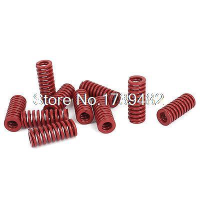 12mm OD 30mm Long Medium Load Stamping Compression Mold Die Spring Red 10pcs12mm OD 30mm Long Medium Load Stamping Compression Mold Die Spring Red 10pcs