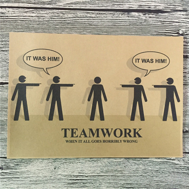 2016 Teamwork Poster Vintage Movie Kraft Paper Wall Art Crafts Retro ...