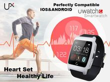 ใหม่ล่าสุดบลูทูธNFCดูสมาร์ทสำหรับA Ndroid ip hone IOS UX U Watchต่อต้านหายไปกีฬาสุขภาพที่มีการตรวจสอบอัตราการเต้นหัวใจสายรัดข้อมือ