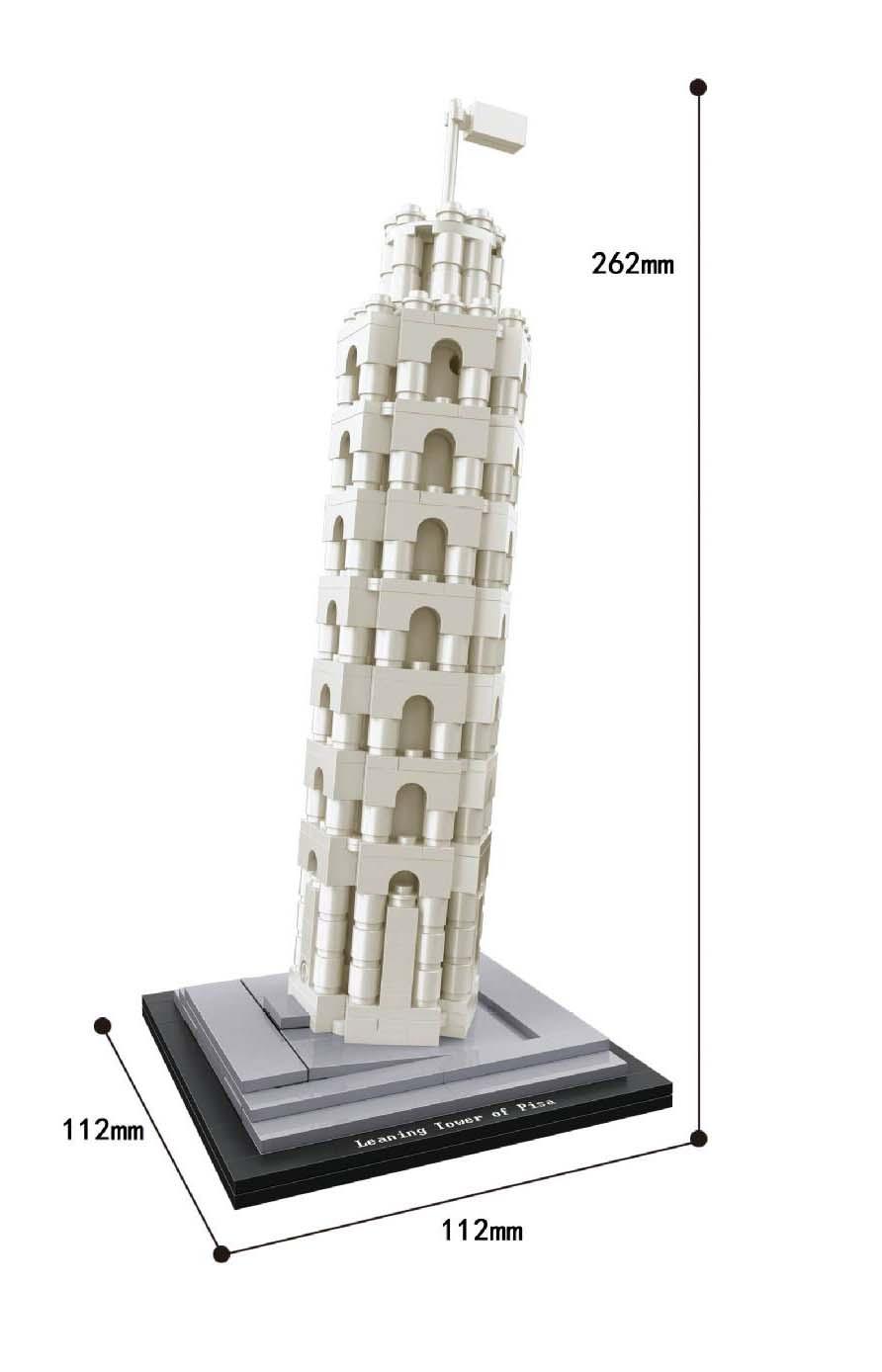 Replika Set Arhitektura Burj Khalifa 21031 Građevinski blok MOC - Izgradnja igračke - Foto 3