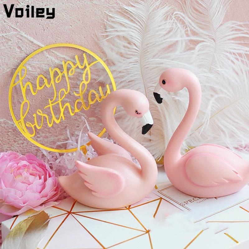 Flamingo Birthday Party Supplies Gift Flamingo Cake Decor Topper Pink Flamingo Decor For Wedding Party Supplies DIY Home Cake,Q