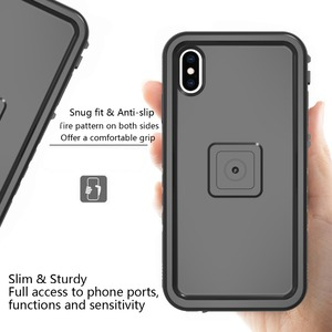 Image 4 - New For iPhone XS Max Bicycle Mount Shockproof Case bag, for Bike phone holder Motorcycle Rack GPS moto support Handlebar stand