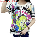 Cartoon Summer School Clothes Back 95 Number Cool Camisa Anime Feminina Harajuku  Lolita Japan Kawaii Female T-shirt