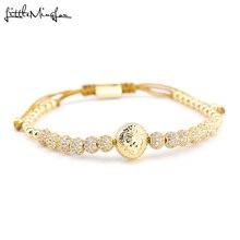 Luxury Paved CZ Lion head bracelet ball Charm copper Beads Braided Adjustable handmade men Bracelets Bangles for men Jewelry стоимость