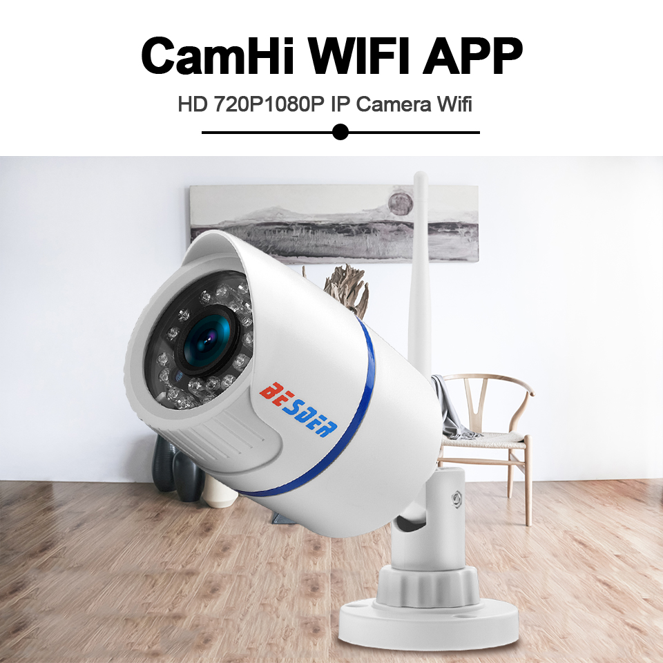 Image 2 - BESDER Audio 720P 1080P Wifi Ip CCTV Outdoor Camera Surveillance White Waterptoof Onvif Wireless Camera With SD Card Slot CamHi-in Surveillance Cameras from Security & Protection