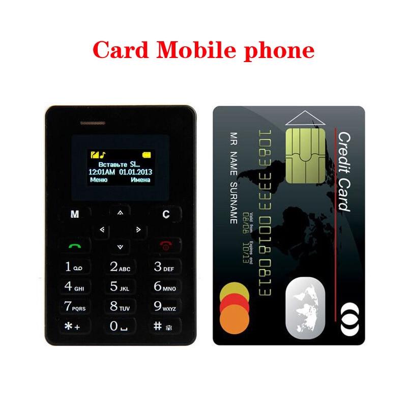 2017 Ultra Thin Card Mobile Phone 4 8mm AIEK M5 AEKU M5 SOYES X6 Low Radiation