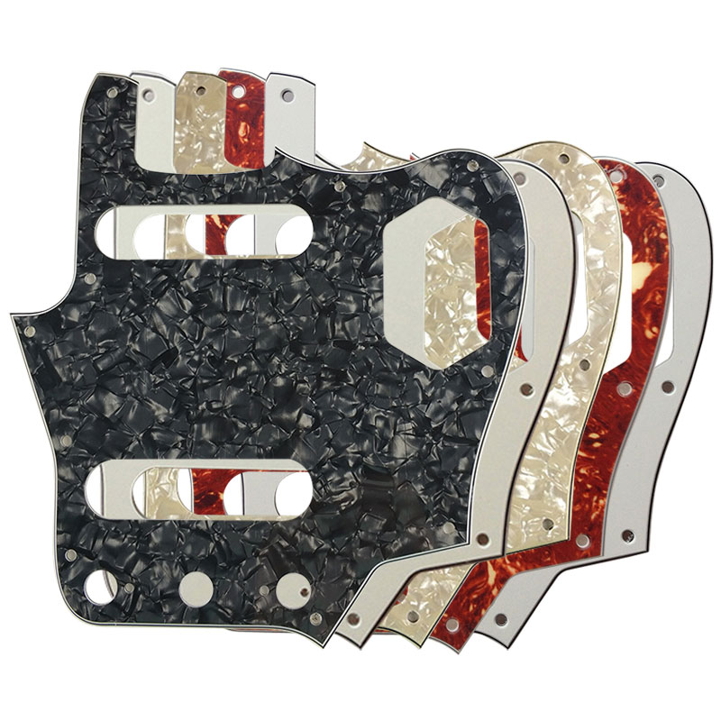 Pleroo Custom Guitar Pickgaurd Scratch Plate - For 10 Scwer Holes US Jaguar Guitar Pickguard Scratch Plate Guitar Parts