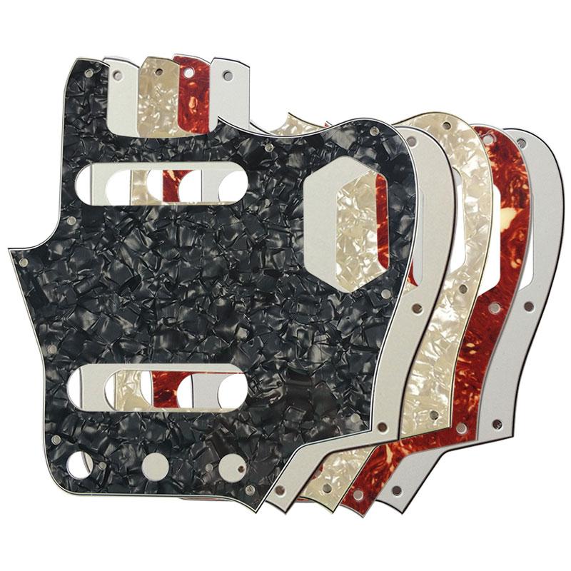pleroo custom guitar pickgaurd scratch plate for 10 scwer holes us jaguar guitar pickguard. Black Bedroom Furniture Sets. Home Design Ideas