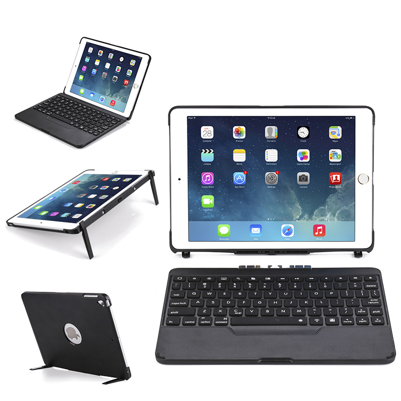 Detachable Keyboard Case for iPad 9.7 Tablet 7 colors Backlit Keyboard Flip Stand Cover for iPad Air/Air2/Pro 9.7/iPad 9.7 2017 logitech ultrathin keyboard cover for ipad air2 space grey 920 006532