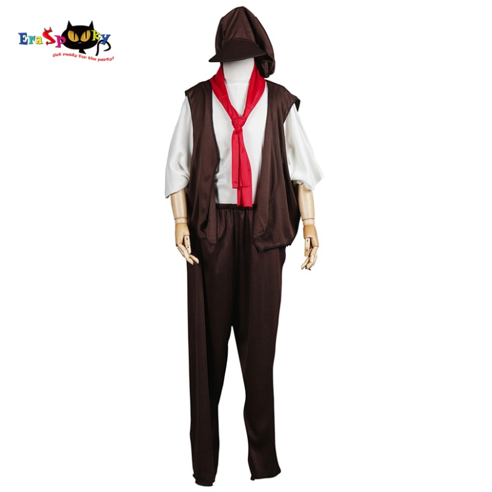 Victorian Poor Boy Children's Tudor Orphan Urchin Cosplay Costume Fancy Dress with Hat for Festival Carnival Party Halloween