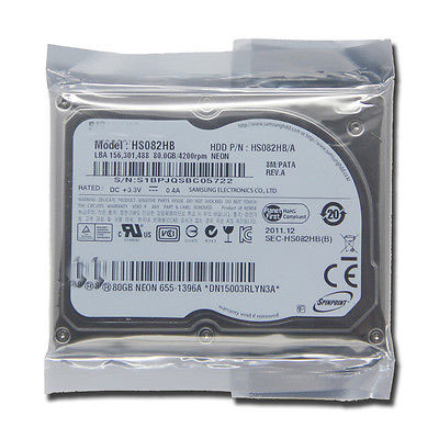 NEW 1 8 CE ZIF 80GB HS082HB Hard Disk drive for macbook air A1237 MB003 HP