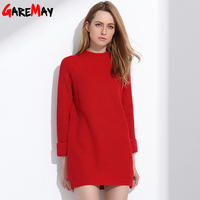 Robe Pull Femme Sweater Dress Women Winter Sweaters And Long Pullover Womens Jumpers Knit Jersey Mujer GAREMAY