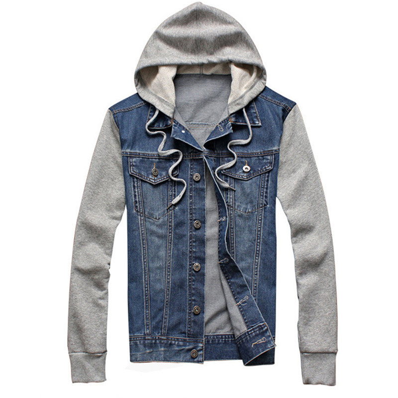 Denim Hoodie Jacket - Coat Nj