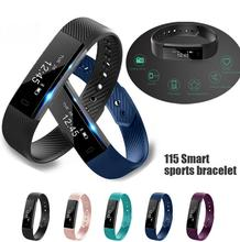 ID115 Bluetooth Smart Band Call Remind Remote Self-Timer Pedometer Sport Sleep Monitor Activity Tracker For Android iOS Phone