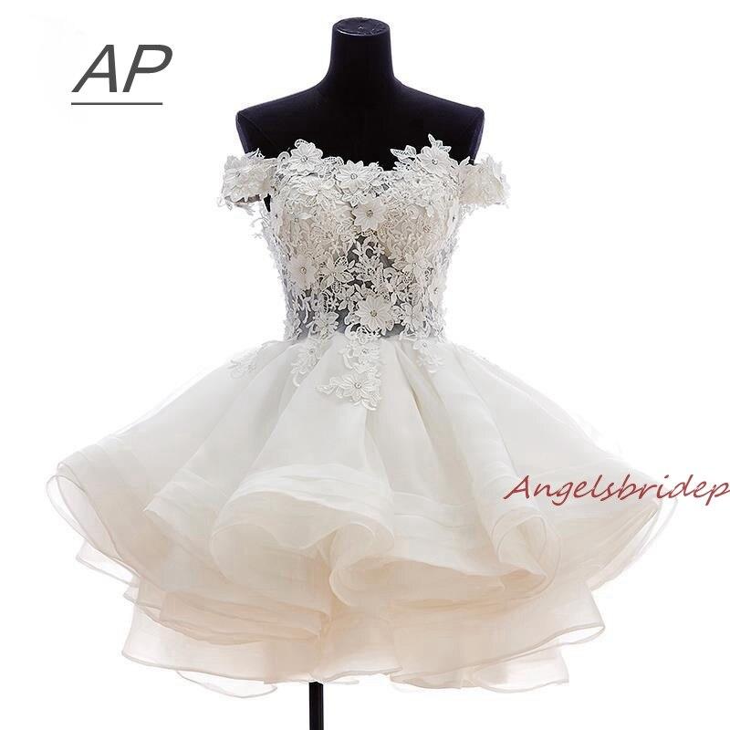 ANGELSBRIDEP-Short-Prom-Dresses-2018-Vestido-De-Festa-Fashional-Off-Shoulder-Applique-Organza-Special-Occasion-Party